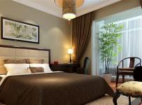 新中式风格三居室卧室吊顶装修效果图欣赏