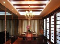 中式古典三居室餐廳儲物柜裝修圖片效果圖欣賞