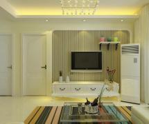 歐式電視背景墻簡歐客廳裝修效果圖