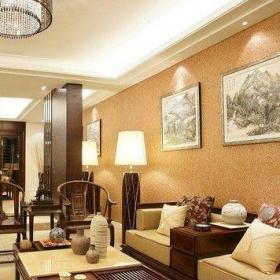 中式客廳背景墻圖片大全效果圖