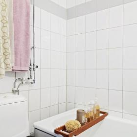 40㎡?#35789;?#38388;北欧40平米小户型单身公寓白色卫生间装修设计图片装修效果图
