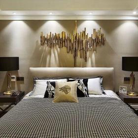 簡歐風格四居室臥室床裝修效果圖欣賞