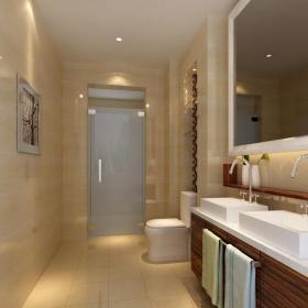 新中式二居室卫生间装修图片效果图
