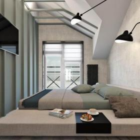 北歐風格臥室雙人床圖片效果圖欣賞