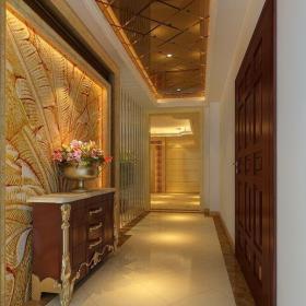 简欧风格复式玄关走廊装修效果图大全