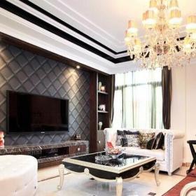 歐式風格裝修客廳電視背景墻圖片效果圖