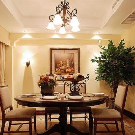 田園風格三居室餐廳餐桌裝修效果圖大全