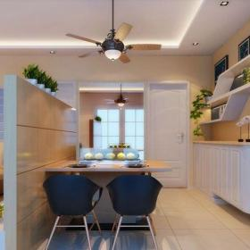 简欧风格二居室餐厅楼梯装修效果图