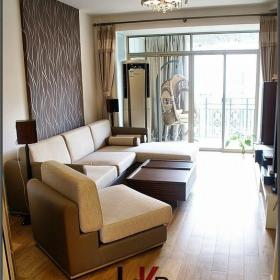 L&K設計宜家風格小戶型溫馨暖色調富裕型客廳沙發背景墻沙發圖片效果圖
