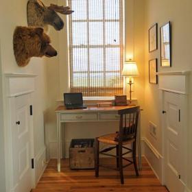窗簾一居書房書桌北歐閣樓小巷飄進書香氣息效果圖