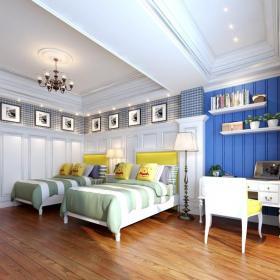 420㎡地中海風格別墅臥室吊頂裝修效果圖地中海風格床圖片