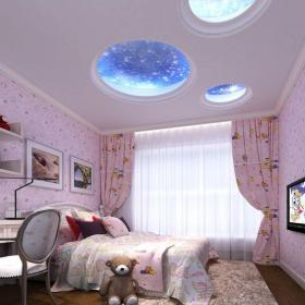 簡歐風格四居室臥室吊頂裝修效果圖