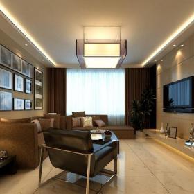 現代簡約三居室客廳走廊裝修效果圖大全