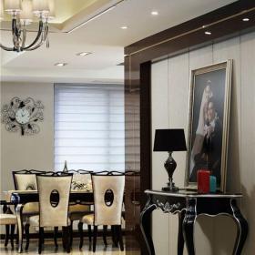 简欧风格三居室玄关走廊装修效果图欣赏