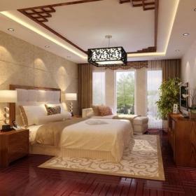 180㎡三居室新中式風格臥室吊頂裝修效果圖新中式風格儲物柜圖片