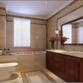 欧式古典三居室卫生间梳妆台灯具装修图片效果图