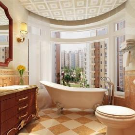 欧式古典风格三居室卫生间装修效果图大全