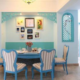 地中海田园混搭二居室餐厅餐桌装修图片效果图