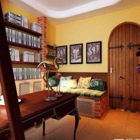 田园风格二居室书房组合柜装修效果图欣赏