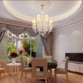 简欧风格六居室餐厅窗帘装修效果图欣赏