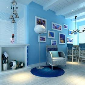 地中海风格三居室玄关屏风装修图片效果图大全