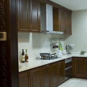 中式風格四居室廚房櫥柜裝修效果圖大全