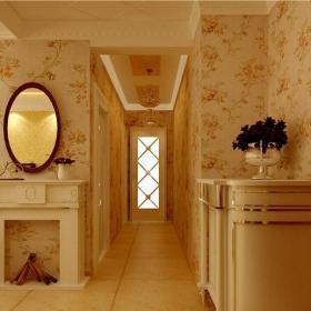 田園風格二居室玄關走廊裝修效果圖欣賞