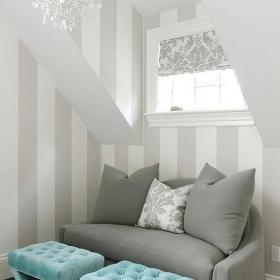 阁楼单身公寓跃层沙发北欧潇洒浪漫的休闲区域效果图欣赏