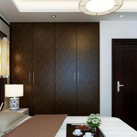 中式风格二居室卧室衣柜装修效果图欣赏
