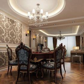 简欧风格四居室餐厅楼梯装修效果图欣赏