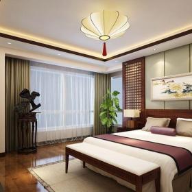 中式風格四居室臥室電視柜裝修圖片效果圖