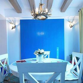 地中海风格四居室餐厅楼梯装修效果图