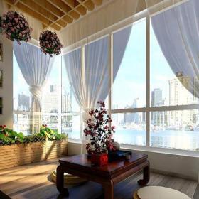 現代簡約三居室陽臺榻榻米裝修圖片裝修效果圖