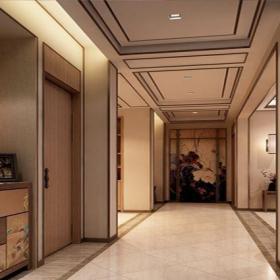 中式古典三居室衣帽间窗帘装修效果图欣赏
