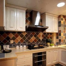 地中海風格四居室廚房瓷磚裝修效果圖大全