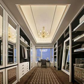 现代简约三居室衣帽间窗帘装修效果图大全