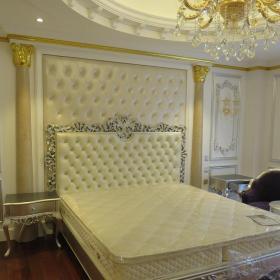 豪華歐式臥室背景墻軟包效果圖