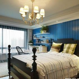 地中海風格四居室臥室窗簾裝修效果圖欣賞