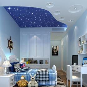 簡歐風格四居室兒童房床頭柜裝修圖片效果圖大全