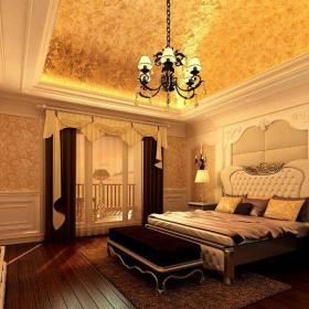 简欧风格复式卧室床头柜装修效果图欣赏
