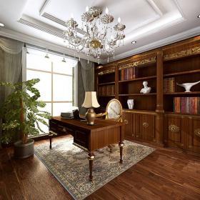 欧式古典欧式风格书房装修案例效果图