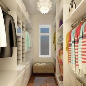 现代简约三居室衣帽间储物柜装修图片效果图