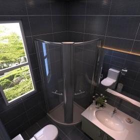 现代简约风卫生间玻璃幕墙图片大全装修效果图