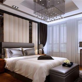 中式古典五居室客廳背景墻裝修效果圖大全