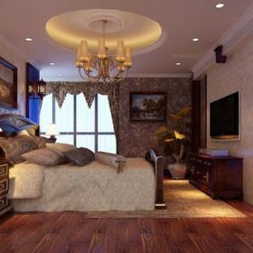 照片墙电视背景墙背景墙吊顶电视背景墙欧式古典卧室装修效果图