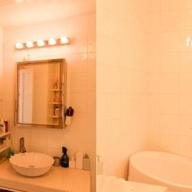 北歐風格一居室90平米衛生間洗手臺效果圖