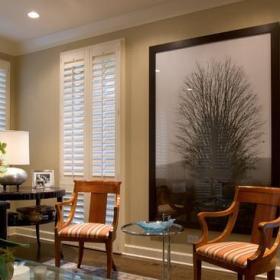 小户型混搭风格客厅40平米唯美宜家椅子效果图