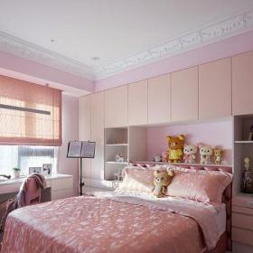 140平米以上歐式風格兒童房150平歐式古典風格粉色女孩房設計裝修效果圖