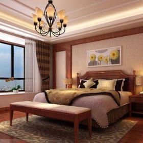 新中式風格復式臥室裝修圖片欣賞效果圖