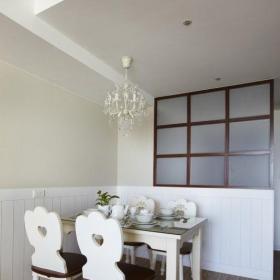 田园风格三居室餐厅楼梯装修效果图